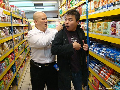 shop lifting When asked who gets away with shoplifting, the security officer said:  any major  company (i might be slightly off, but they taught us this in training)  person  whose bad behavior was repeatedly enabled by those around him.